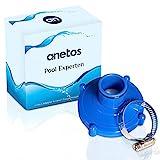 anetos® - Poolsauger Adapter für Intex (80mm auf 32mm) für Saugschlauch mit Edelstahl...
